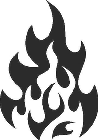 Flames Decal / Sticker 61