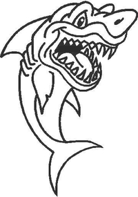 Shark Decal / Sticker 06
