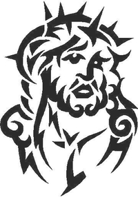 Jesus Tribal Decal / Sticker