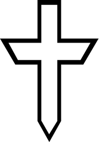Christian Cross Decal / Sticker 69