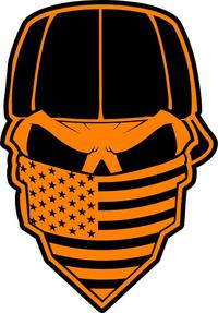 Skull American Flag Bandana Decal / Sticker 32