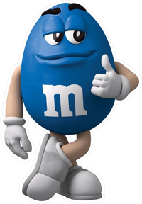 Blue Peanut M&M Decal / Sticker 47