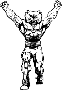 Weightlifting Bear Mascot Decal / Sticker