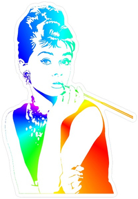 Audrey Hepburn Rainbow Decal / Sticker