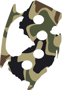 Camouflage New Jersey Brass Knuckles Decal / Sticker 08