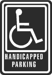 Handicapped Sign Decal / Sticker 02