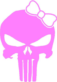 Girly Punisher with Bow Decal / Sticker 20
