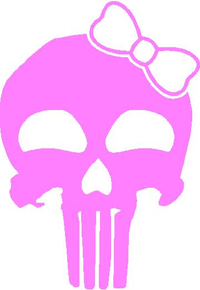 Girly Punisher with Bow Decal / Sticker 21