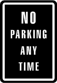 CUSTOM NO PARKING DECALS and NO PAKRING STICKERS