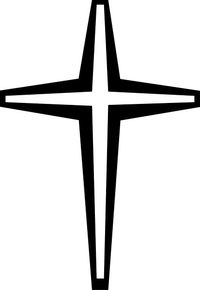Christian Cross Decal / Sticker 17