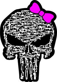 Gun Girl Punisher Decal / Sticker 89
