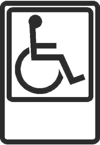 Handicapped Sign Decal / Sticker 04