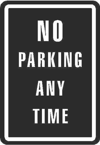No Parking Any Time Sign Decal / Sticker