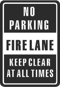 No Parking Firelane Sign Decal / Sticker
