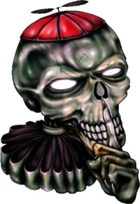 Silly Skull Decal / Sticker 01