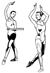 Ballet Dancers Decal / Sticker
