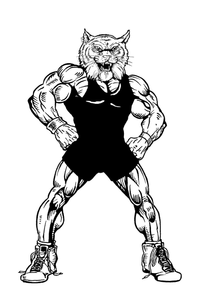 Wrestling Wildcats Mascot Decal / Sticker 3