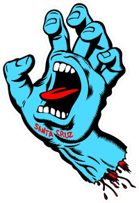 Santa Cruz Screaming Hand Decal / Sticker 04