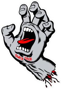 Santa Cruz Screaming Hand Decal / Sticker 06