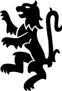 Rampant Lion Decal / Sticker 02
