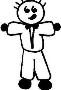Tuxedo Guy Stick Figure Decal / Sticker 02