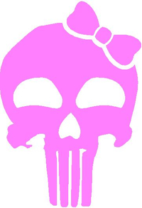 Girly Punisher with Bow Decal / Sticker 23