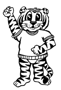 Tigers Mascot Decal / Sticker