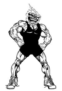 Wrestling Comets Mascot Decal / Sticker 3