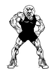 Wrestling Eagles Mascot Decal / Sticker 4