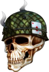Smoking Army Skull Decal / Sticker 01