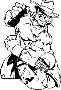 Football Cowboys Mascot Decal / Sticker