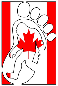 Canadian Bigfoot Decal / Sticker 02