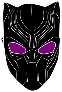 Black Panther Decal / Sticker 06