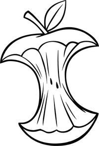 Apple Core Decal / Sticker 01