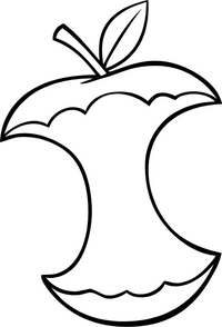 Apple Core Decal / Sticker 02