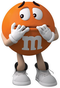 Orange M&M Decal / Sticker 59