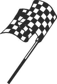 Checkered Flag Decal / Sticker 04