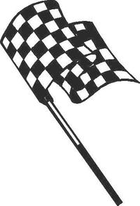Checkered Flag Decal / Sticker 20