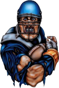 Blue Football Player Decal / Sticker 01