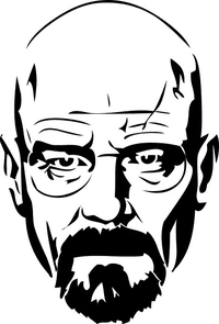 Breaking Bad Heisenberg (Walter White) Decal / Sticker 18