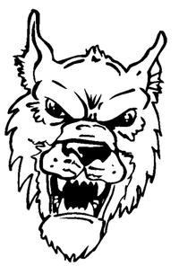 Wolves Mascot Decal / Sticker 3