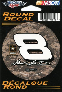 8 Mark Martin Camo Decal / Sticker