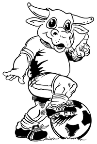 Soccer Bull Mascot Decal / Sticker 4