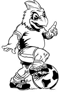Soccer Cardinals Mascot Decal / Sticker 4