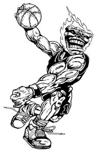 Basketball Comets Mascot Decal / Sticker 4