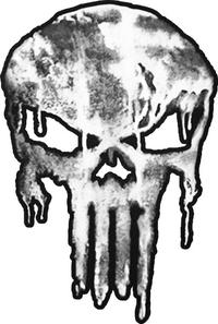 Weathered Punisher Decal / Sticker 119