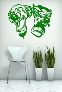 CLOWN WALL DECALS and CLOWN WALL DECALS