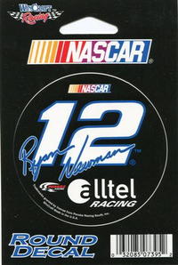 12 Ryan Newman Decal / Sticker