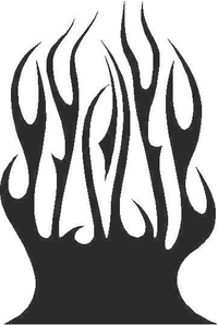 Flames Decal / Sticker 35