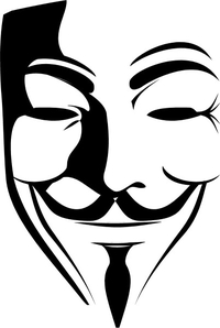 CUSTOM V FOR VENDETTA / ANONYMOUS DECALS and STICKERS